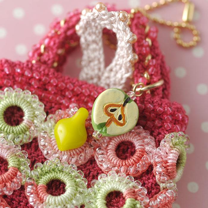 りんぐりんぐミニバッグver2 ピンク  【作家:芝裕子(Atelier Siva)】