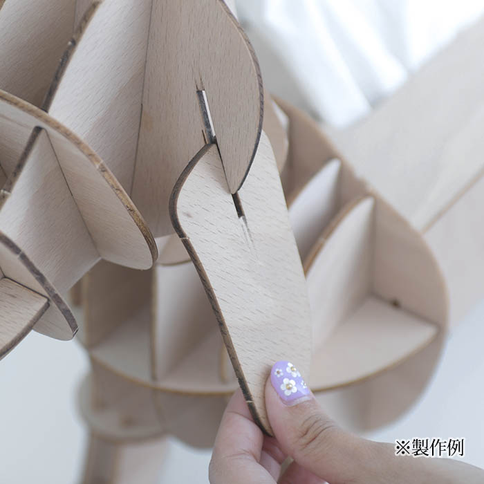 立体パズル 木製 ki-gu-mi ネコ 遊び