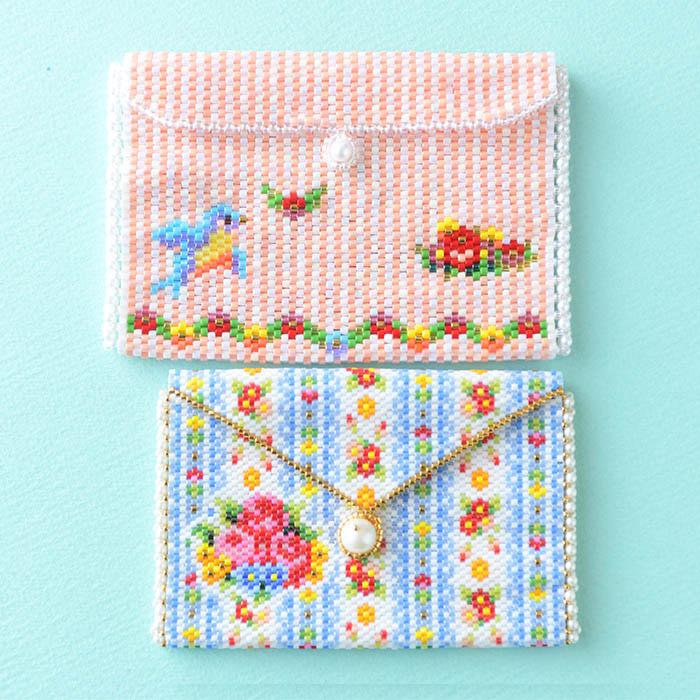 小物入れ〜幸せの小鳥〜  ビーズマニア