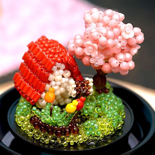 スノードーム〜桜の季節〜  ビーズマニア