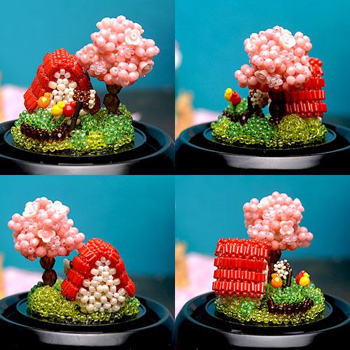 スノードーム〜桜の季節〜  【ビーズマニア】