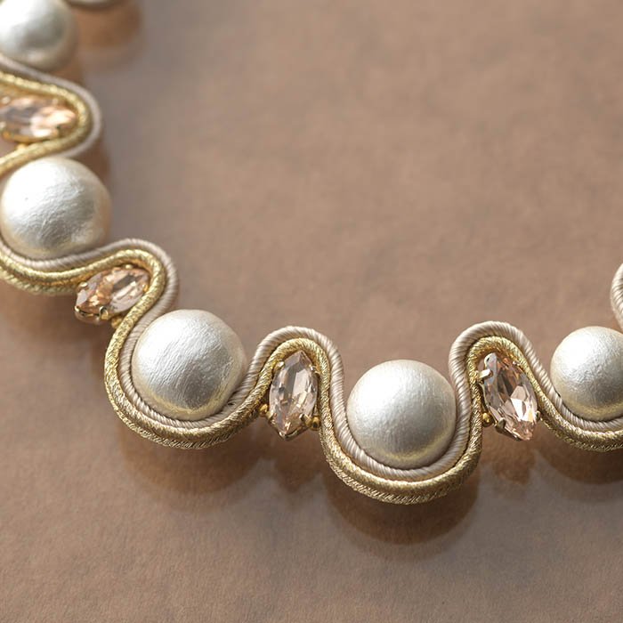 soutache jewelry  ma princess 〜マ・プランセス〜 【作家:Miki Kanai(Beads mode C'est la vie)】
