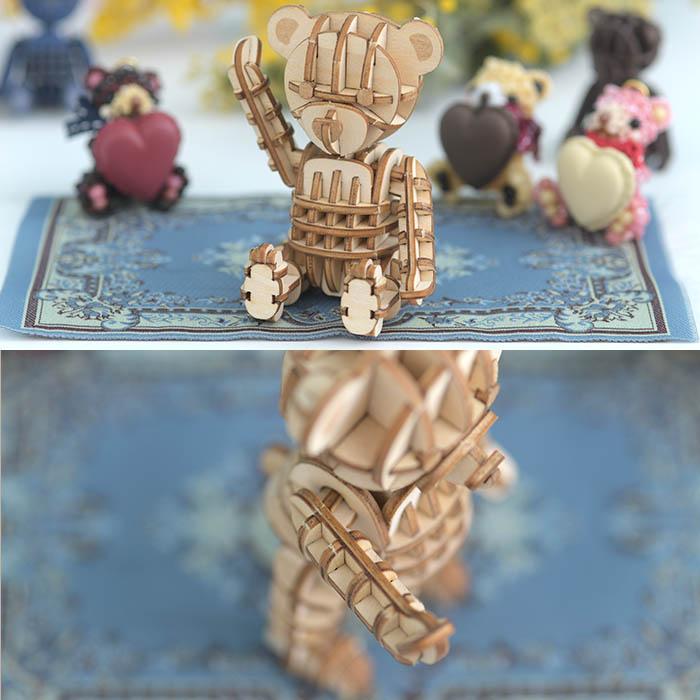 立体パズル 木製 ki-gu-mi テディベア