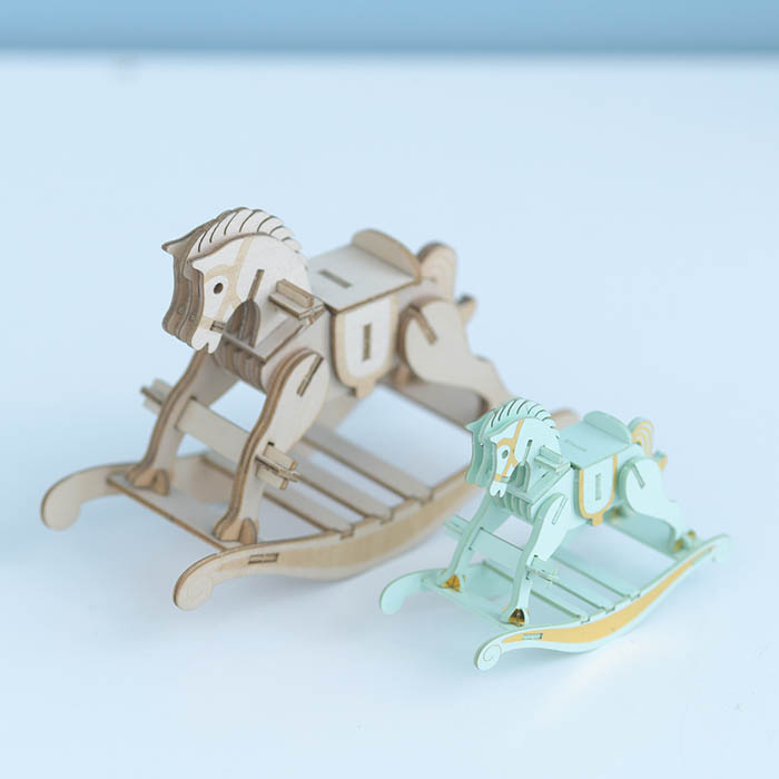 立体パズル 木製 ki-gu-mi 木馬