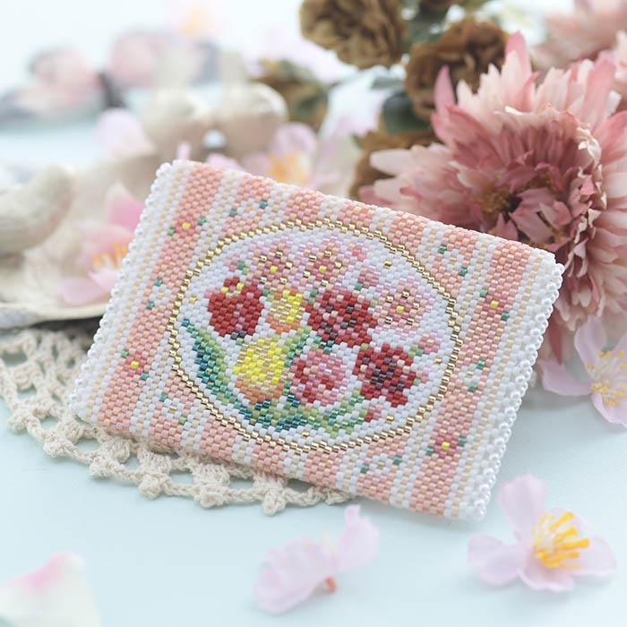小物入れ〜Spring flowers〜  【ビーズマニア】