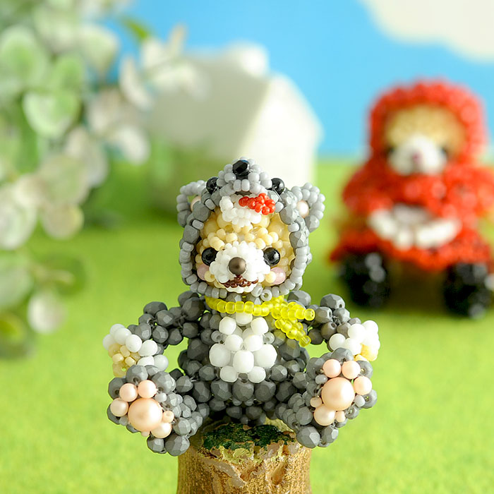 テディベアシリーズ〜着ぐるみオオカミくん〜  ビーズマニア