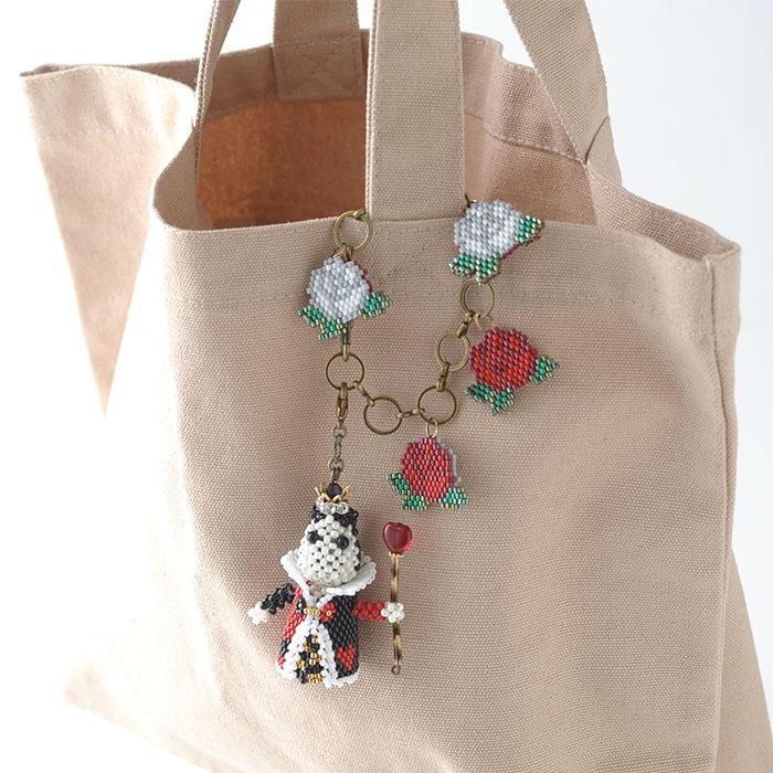 ハートの女王様と薔薇のバッグチャーム 【作家:Lovelyカオリ〜渡辺かおり〜・あわいしのぶ(Shinon*)】