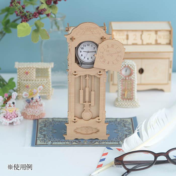 立体パズル 木製 ki-gu-mi 古時計 ウォッチケース