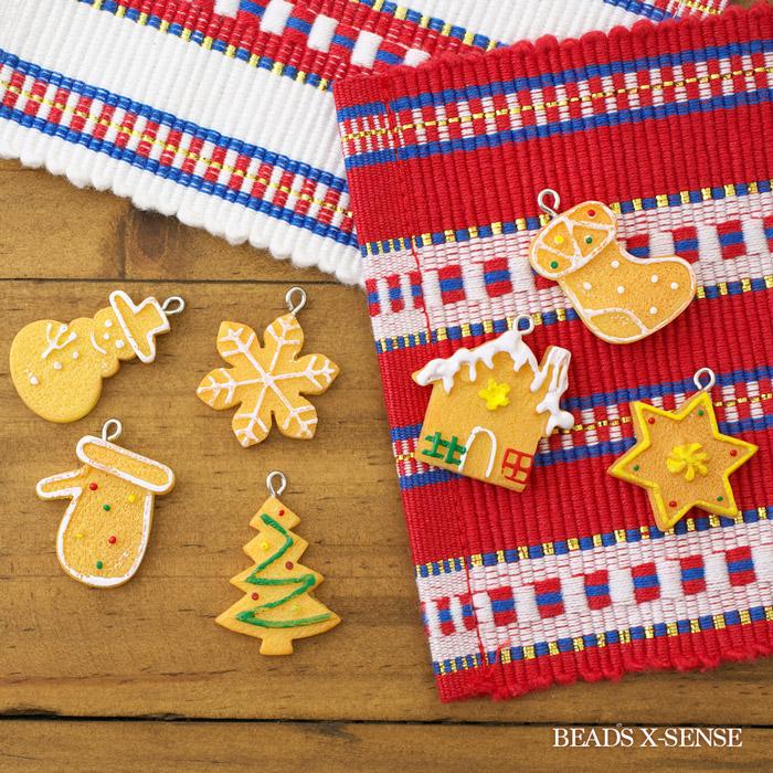 クリスマスクッキーチャーム/雪の結晶