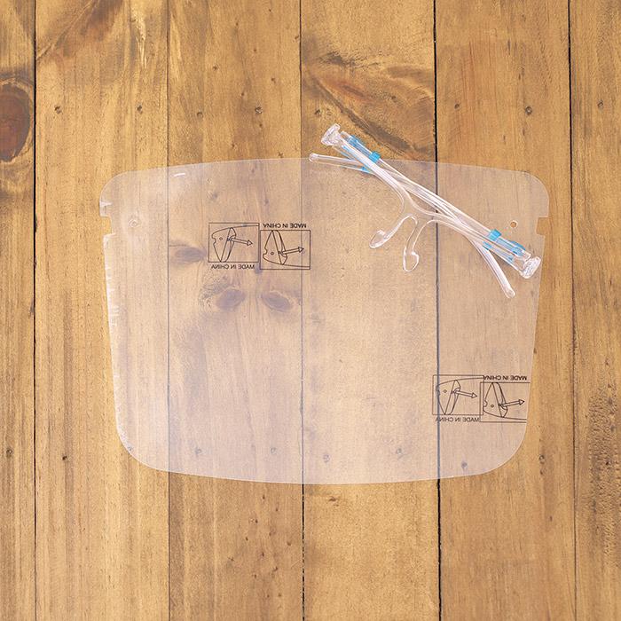 眼鏡の上から使える!飛沫防止フェイスシールド