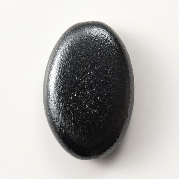 ウッドパール 平ナツメ ブラック