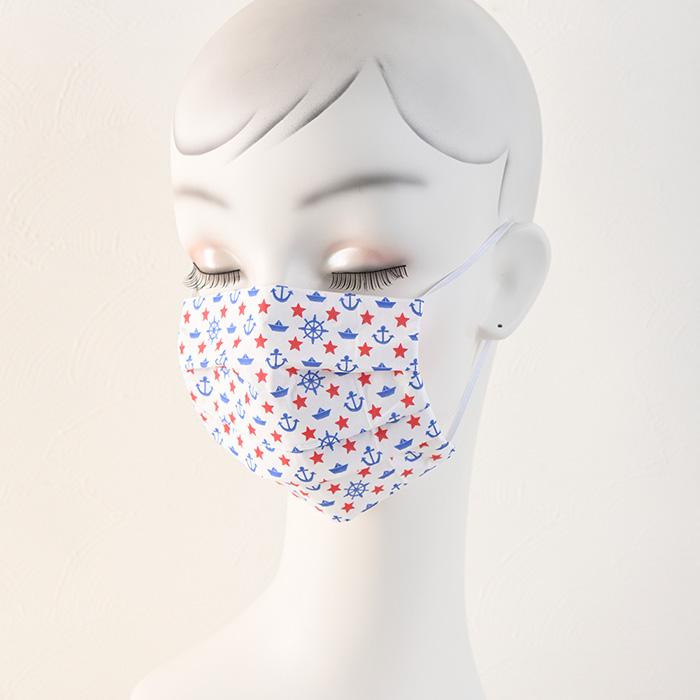 ペーパーナプキンで作る使い捨てマスク材料セット40 マリンサイド
