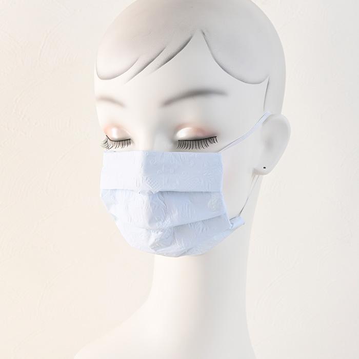 ペーパーナプキンで作る使い捨てマスク材料セット41 ブルーシンフォニー(エンボス)