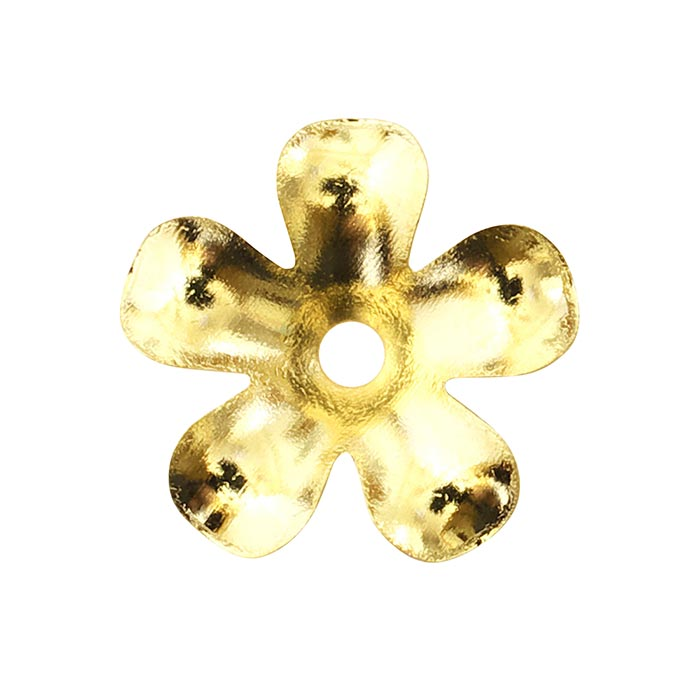 メタルフラワー 5弁 9mm ゴールド