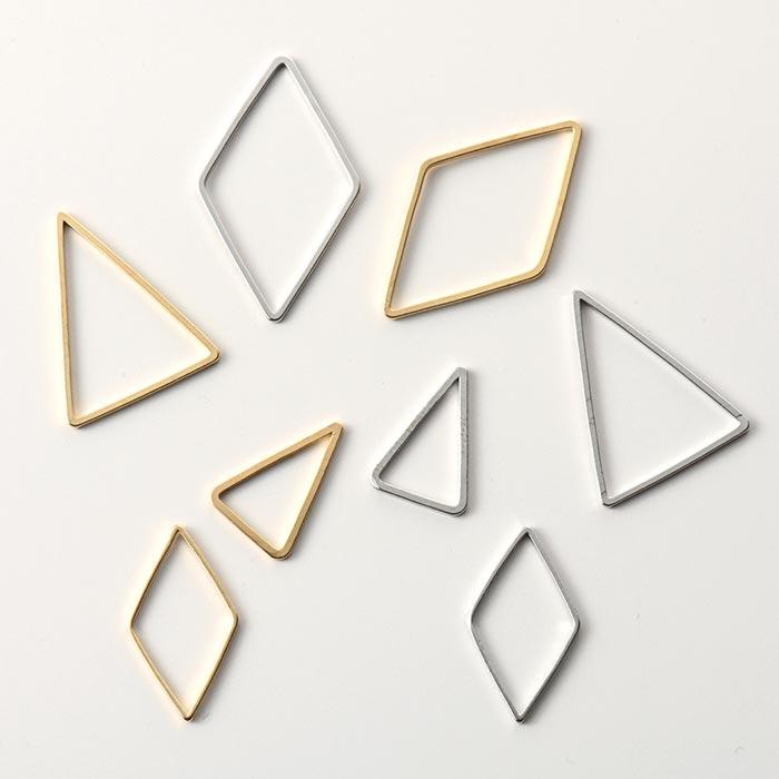メタルパーツ/フープ ダイヤ ゴールド