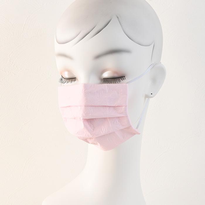 ペーパーナプキンで作る使い捨てマスク材料セット49 ピンクシンフォニー(エンボス)