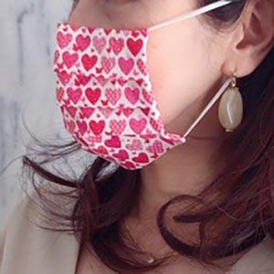 【在庫限り】ペーパーナプキンで作る使い捨てマスク材料セット39 パープルフラワー
