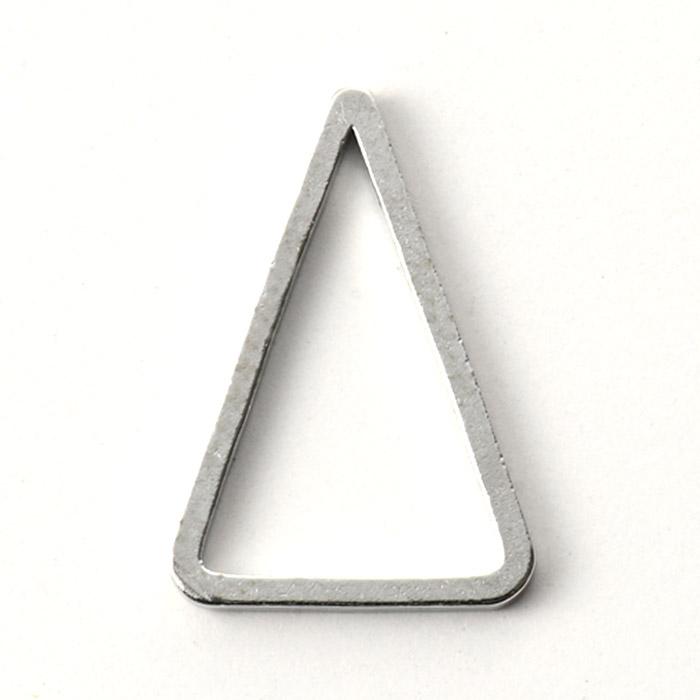 メタルパーツ/フープ トライアングル ロジウムカラー