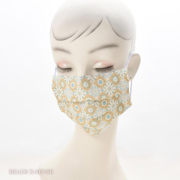 【在庫限り】ペーパーナプキンで作る使い捨てマスク材料セットtypeB 11 アラベスクパターン