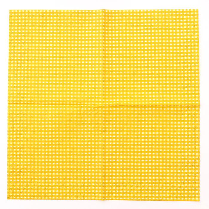 【在庫限り】ペーパーナプキンで作る使い捨てマスク材料セットtypeB 14 ギンガムチェックオレンジ