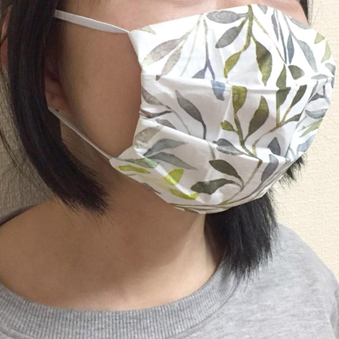 【在庫限り】ペーパーナプキンで作る使い捨てマスク材料セットtypeB 15 ギンガムチェックグリーン