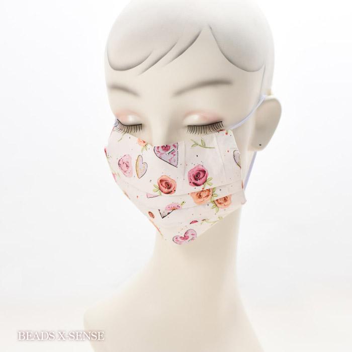 【在庫限り】ペーパーナプキンで作る使い捨てマスク材料セットtypeB 19 ハッピーローズ