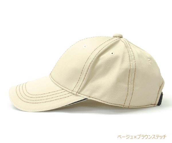 Bebro(ビブロ)TC 綿ポリ高吸水スポーツゴルフ6パネルステッチキャップ