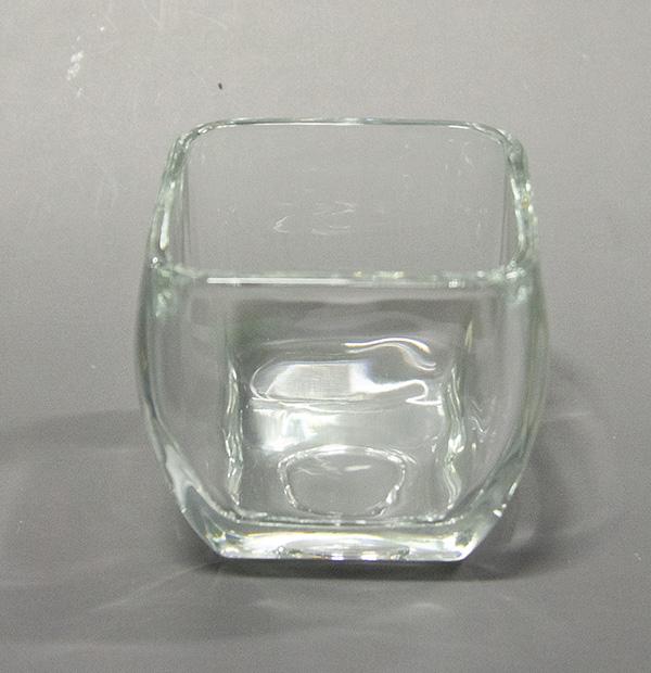 キャンドル用グラス【四角型】ゼリーキャンドルに最適※4個まとめ買いで1000円!!
