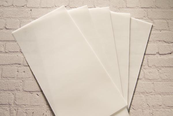 【新色】 カラーシート/カラーレス 柔軟性と粘着力があるのでキャンドルの装飾に便利です。