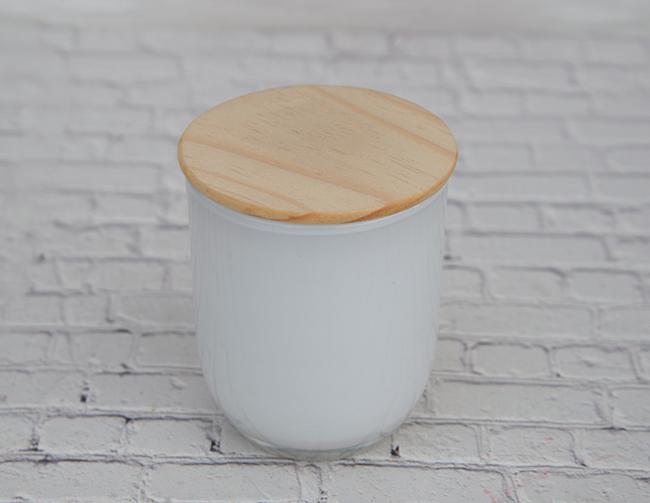 【アウトレット】ホワイトグラス(ピクトグラム入) 本体サイズ(外径)Φ約71mm*H約82mm