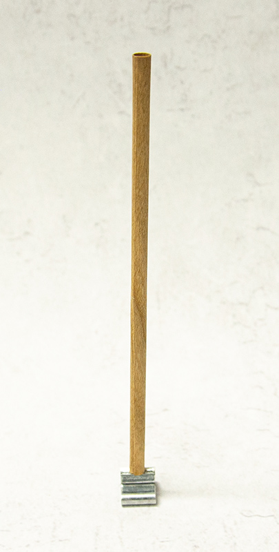 ウッドウィック ラウンドタイプSMALL サイズΦ約6.4mm×H127mm 5本入り 座金+センターウッド付属