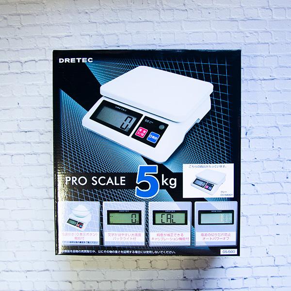 【道具】プロスケール 5kg計 <ドリテック> グレー