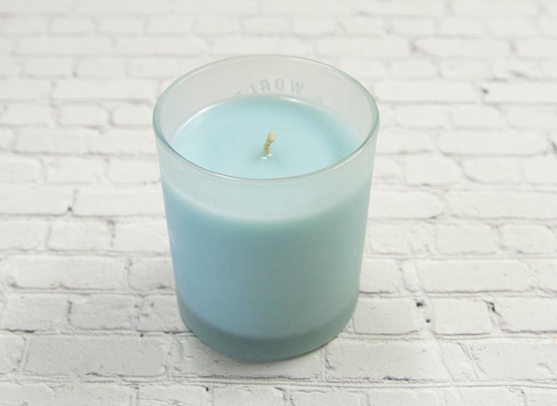 【SALE】 アロマキャンドル用リサイクルワックス※ライトブルー/森林浴の香り付き 2�