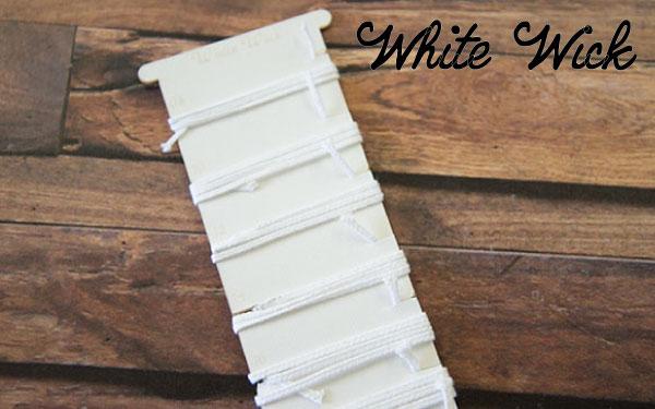 NEW プレミアムウィック 欧米のキャンドルメーカーが愛用する人気商品 パラフィンワックス製キャンドルに最適な純白芯。