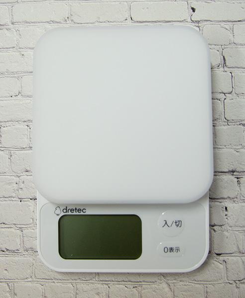 【道具】デジタルスケール ブランジェ 3kg計 <ドリテック>ブラック