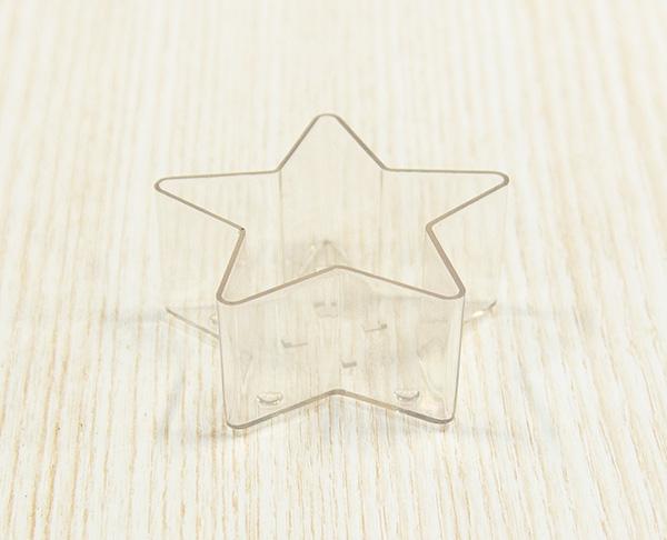 【ポリ製】#109-25 ティーライトカップ スター 25個入  厚さ約1mm