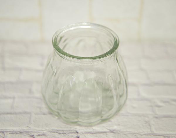 キャンドル用グラス パンプキン型(内容量:グラス8分目あたりまで約120g) 今だけ60円/個 1ケース12個入り720円<+税>