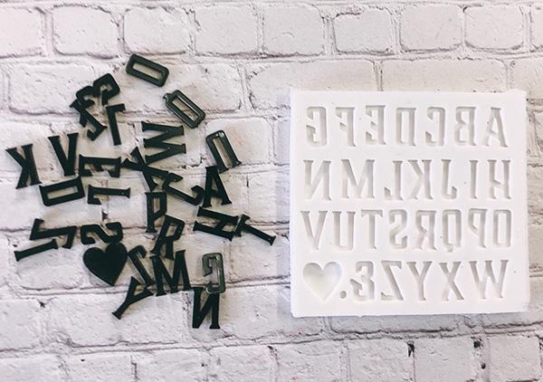 【シリコン型】 アルファベットB 可愛いフォントでオリジナルモチーフを作ろう