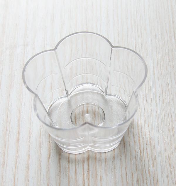 【ポリ製】#112-10 ティーライトカップ フラワー 10個入  厚さ約1mm