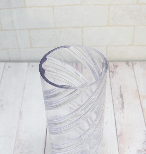【ポリ製】#113 円筒形スパイラル【A】  内径φ70mm×H229mm ※リサイクル素材を利用付、細かな傷等あり。