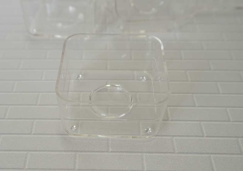 ポリ製 ティーライトカップ スクウェア 10個入  厚さ約2mm