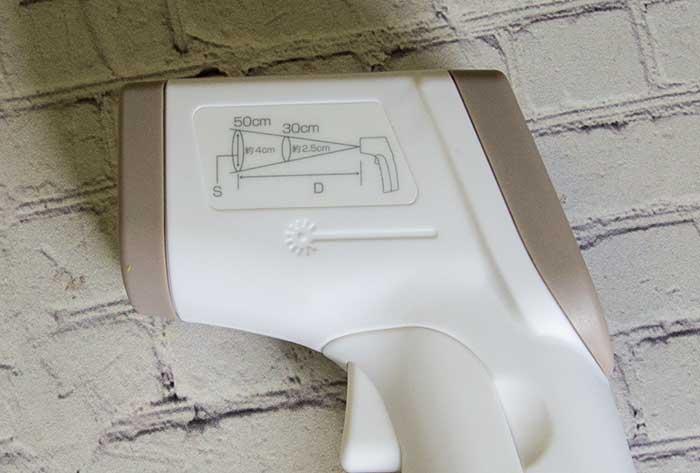 【道具】 温度計 <ドリテック>サッと測れるワンタッチ温度計