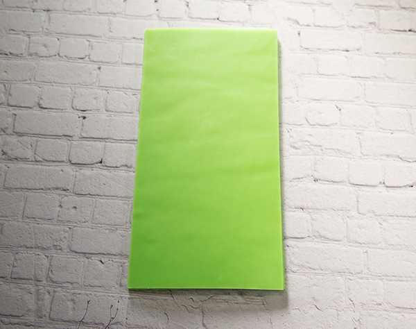 【新色】 カラーシート/イエローグリーン 柔軟性と粘着力があるのでキャンドルの装飾に便利です。
