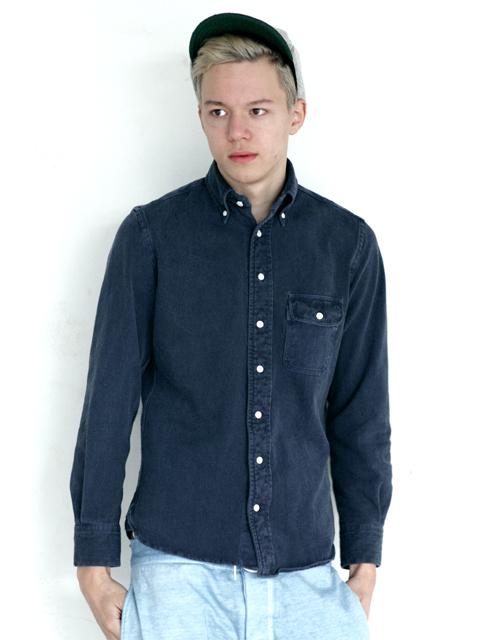 L/S PIQUE B,D SHIRTS / ロングスリーブピケボタンダウンシャツ