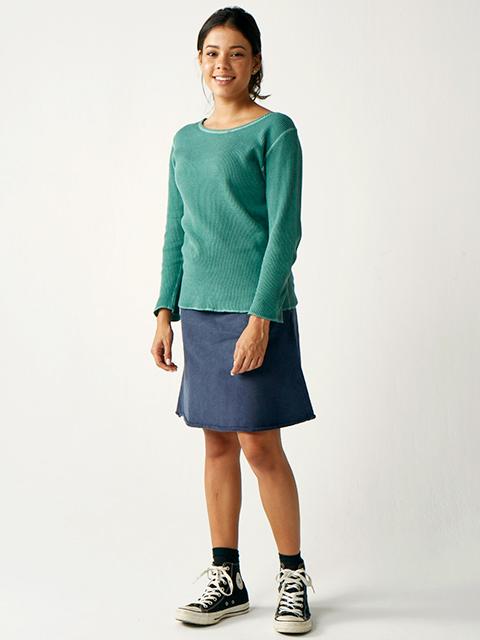 WOMEN'S L/S BOAT NECK THERMAL TEE / ウィメンズロングスリーブボートネックサーマルTシャツ