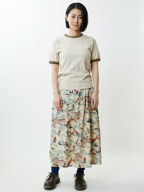 ALOHA TEE MAXI SKIRT [2020SS] / アロハT-マキシスカート
