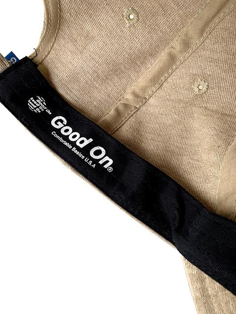 """Good On"" EMBROIDERY HEAVY JERSEY LOW CAP / ""Good On""刺繍ヘビージャージーローキャップ"