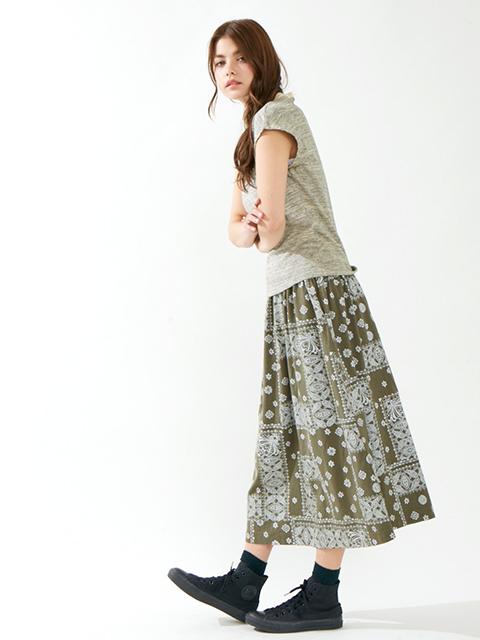 BANDANA TEE MAXI SKIRT / バンダナT-マキシスカート