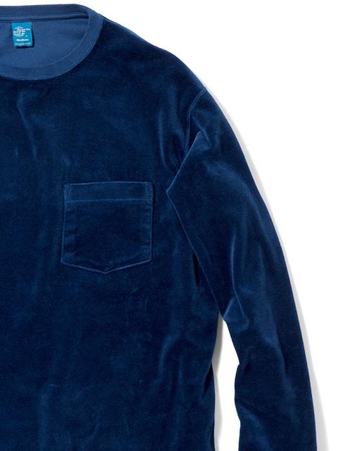 VELOUR L/S POCKET TEE [2018FW] / ベロアロングスリーブポケットTシャツ