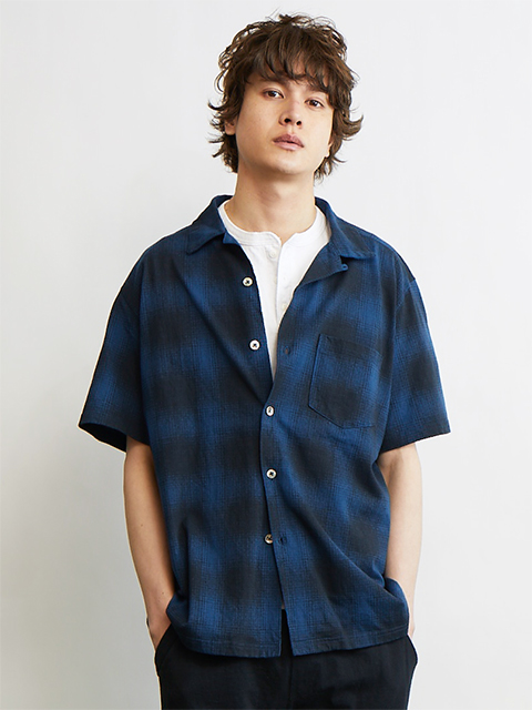 OMBRE S/S OPEN TEE SHIRTS [2021SS] / オンブレショートスリーブオープンTシャツ